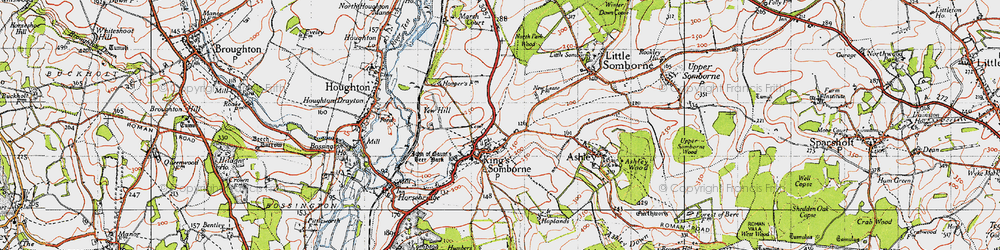 Old map of Yew Hill in 1945