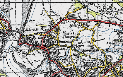 Old map of King's Tamerton in 1946
