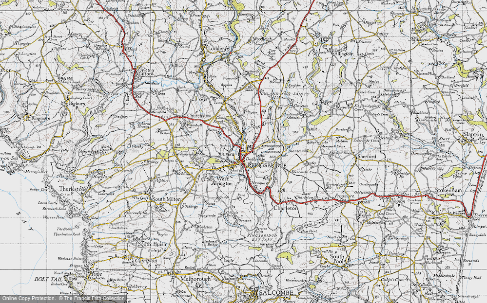Old Map of Kingsbridge, 1946 in 1946