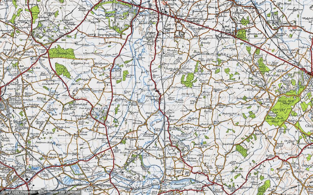 Old Map of Kingsbury, 1946 in 1946