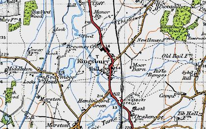 Old map of Kingsbury in 1946