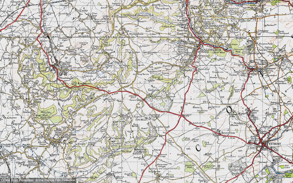 Old Map of Historic Map covering Ashel Barn in 1946