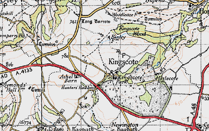 Old map of Ashel Barn in 1946