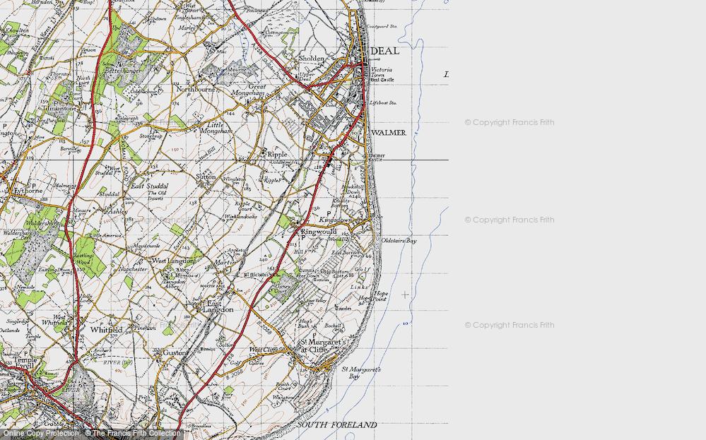 Old Map of Kingsdown, 1947 in 1947