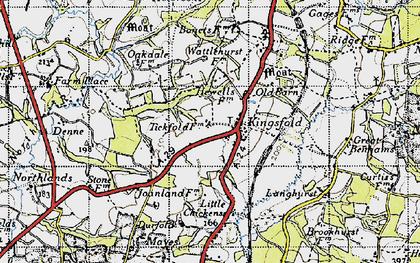 Old map of Langhurst in 1940