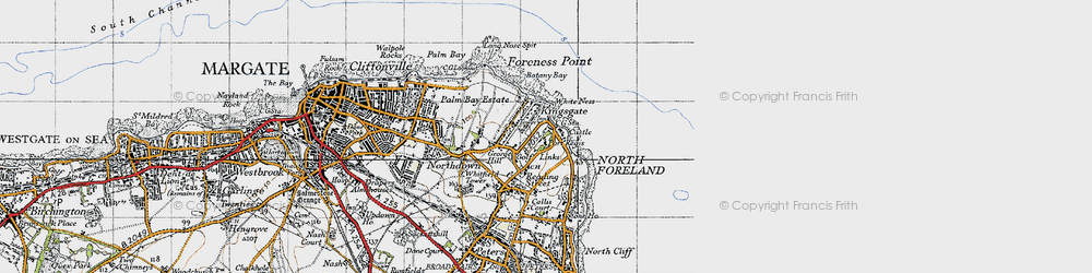Old map of White Ness in 1947