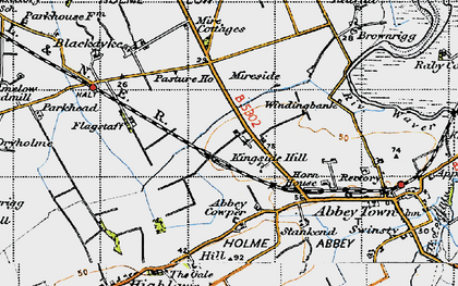 Old map of Abbey Cowper in 1947