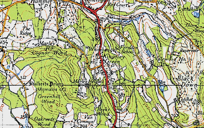 Old map of Whitehanger in 1940