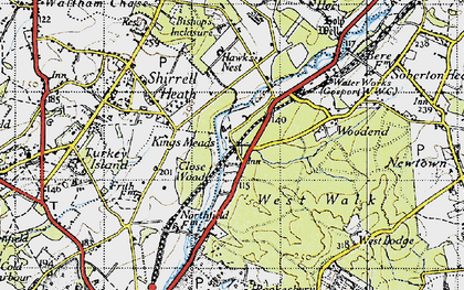 Old map of West Walk in 1945