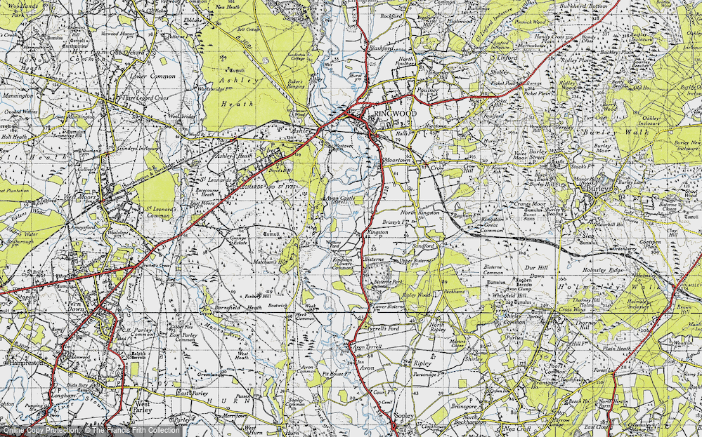 Old Map of Historic Map covering Leybrook Common in 1940