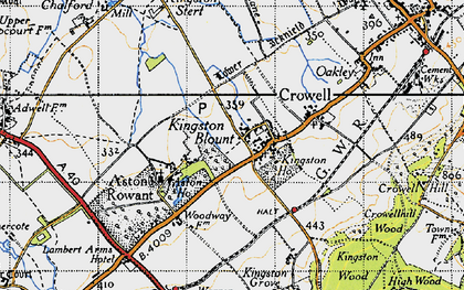 Old map of Aston Wood in 1947
