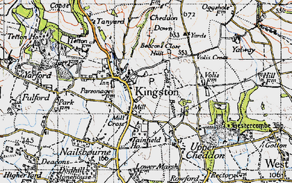 Old map of Kingston St Mary in 1946