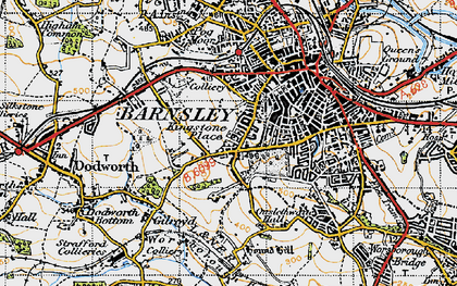 Old map of Kingstone in 1947