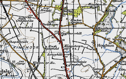 Old map of Kingstown in 1947