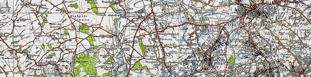 Old map of Kingswinford in 1946