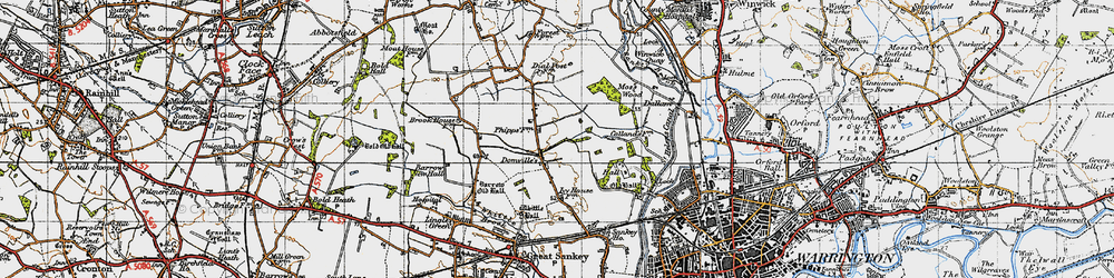 Old map of Kingswood in 1947