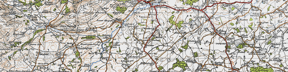 Old map of Woodbrook in 1947
