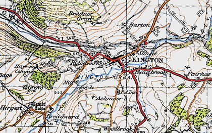 Old map of Ashmoor in 1947