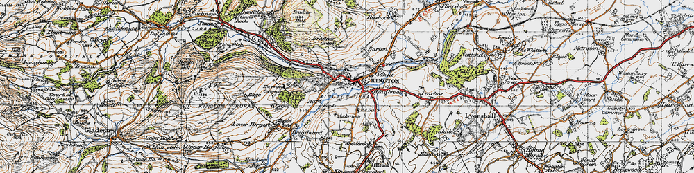 Old map of Kington in 1947