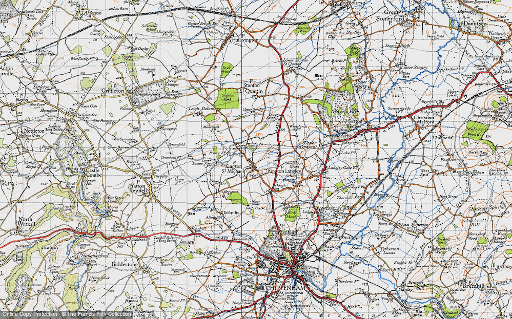 Old Map of Kington St Michael, 1946 in 1946