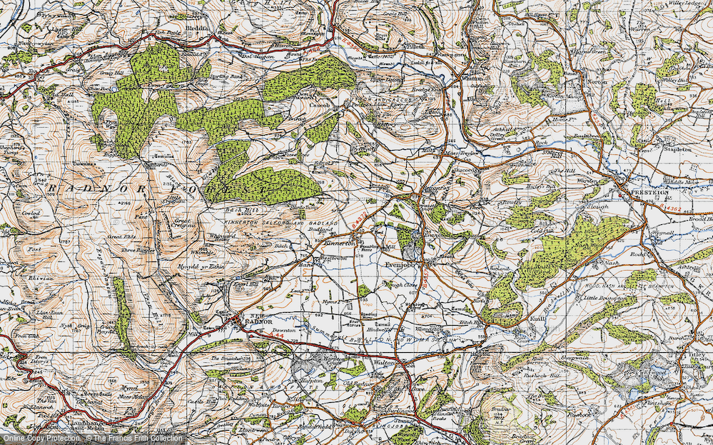 Old Map of Historic Map covering Bank in 1947