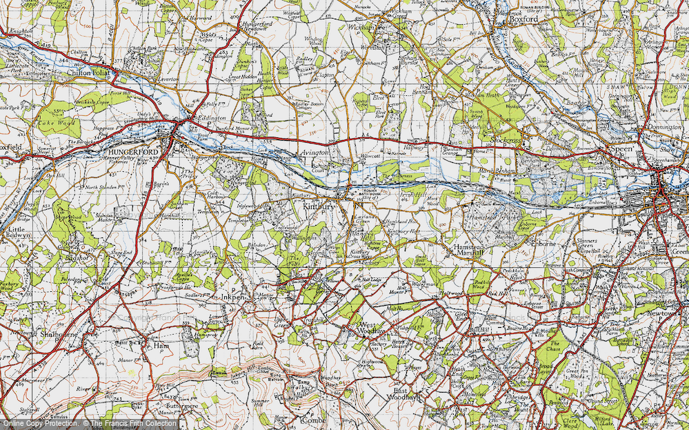 Old Map of Kintbury, 1945 in 1945