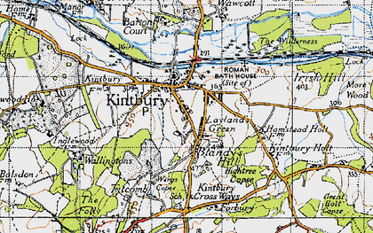 Old map of Kintbury in 1945