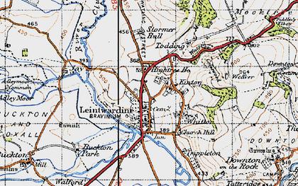 Old map of Leintwardine Manor in 1947