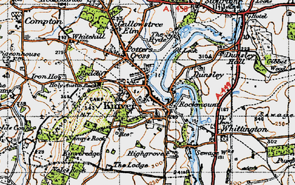 Old map of Kinver in 1947
