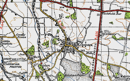 Old map of Kippax in 1947
