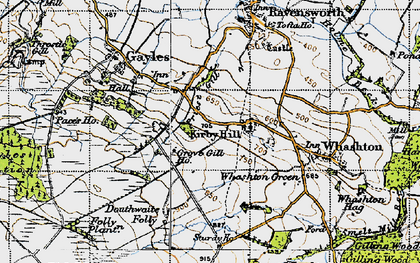 Old map of Kirby Hill in 1947