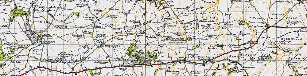Old map of White Scar Plantn in 1947