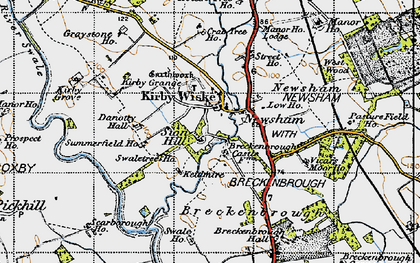 Old map of Avenue Grange in 1947
