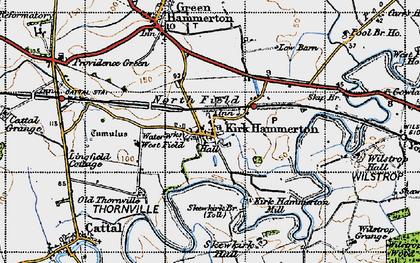 Old map of Wilstrop Village in 1947