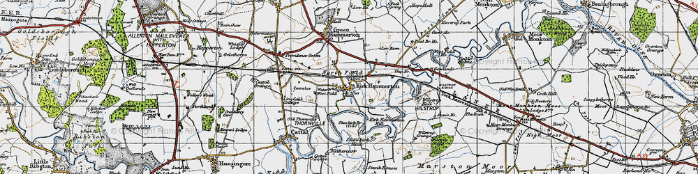 Old map of Wilstrop Village in 1947