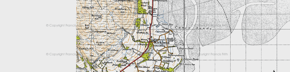 Old map of Carsethorn in 1947