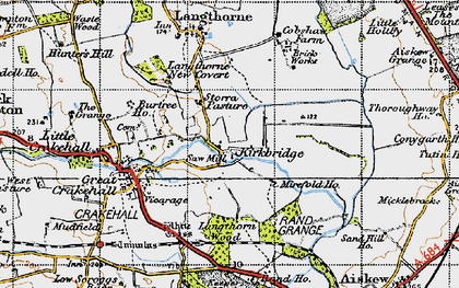 Old map of Langthorn Wood in 1947