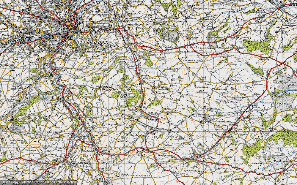 Old Map of Kirkburton, 1947 in 1947
