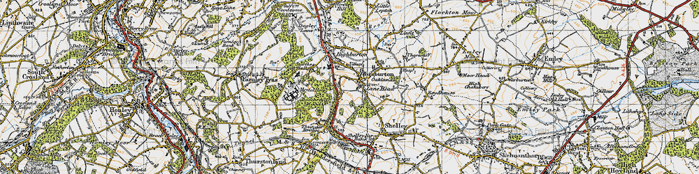 Old map of Kirkburton in 1947