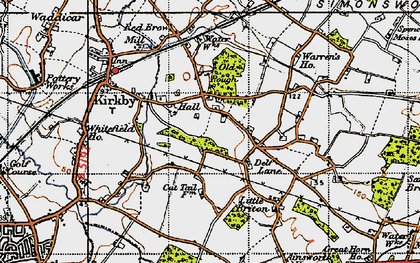 Old map of Kirkby in 1947