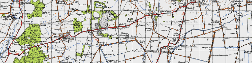 Old map of Whaiff Ho in 1946