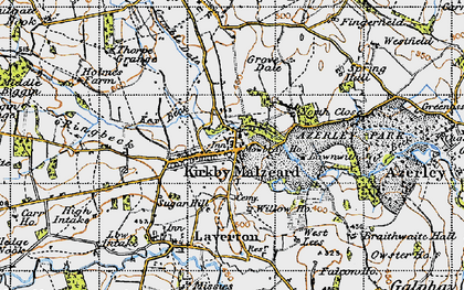 Old map of Kirkby Malzeard in 1947