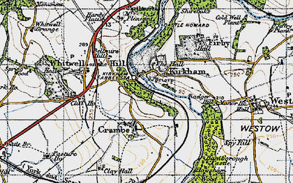Old map of Kirkham in 1947