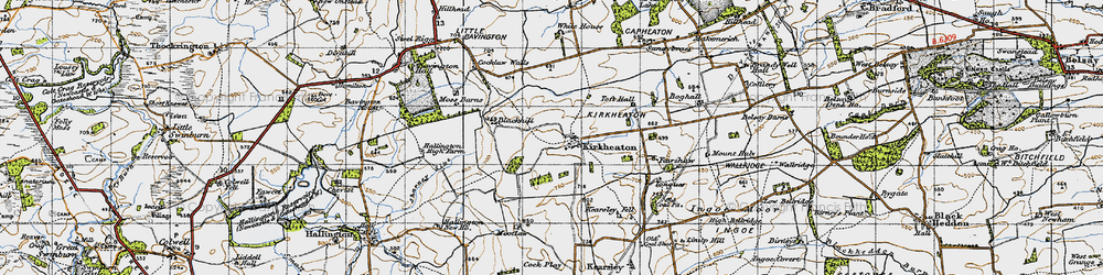 Old map of Toft Hall in 1947