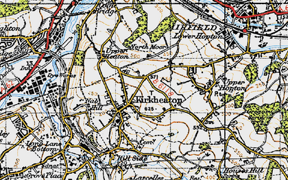 Old map of Kirkheaton in 1947