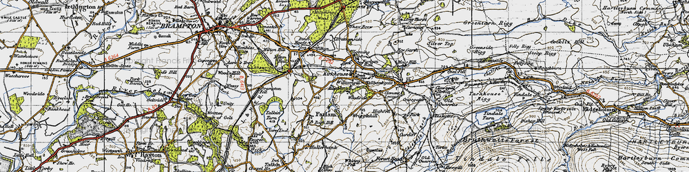 Old map of Williamgill in 1947