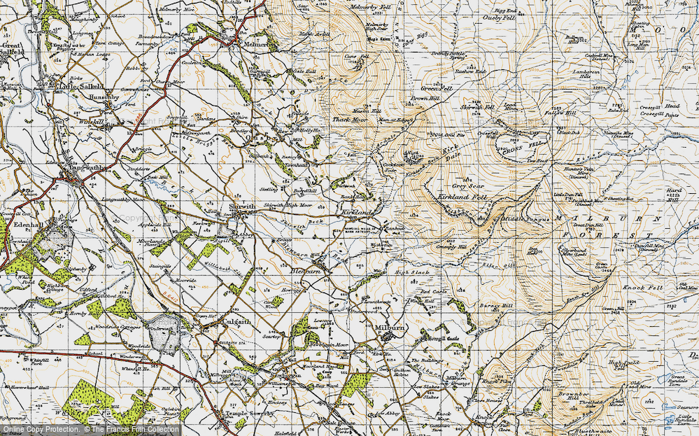 Old Map of Historic Map covering Wythwaite in 1947