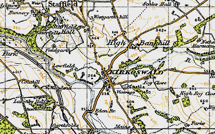Old map of Westgarth Hill in 1947