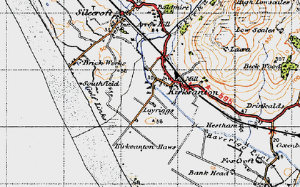 Old map of Kirksanton in 1947
