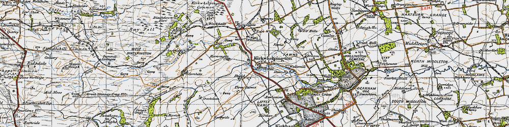 Old map of Whitridge Well in 1947